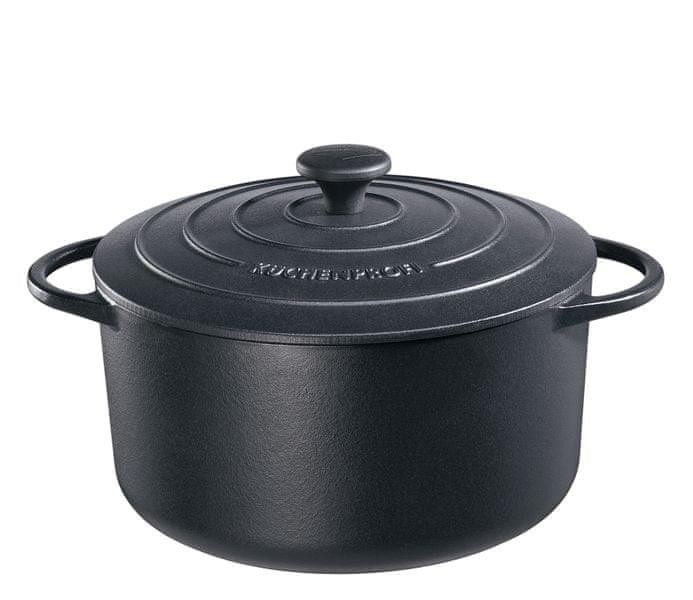 Küchenprofi Hrnec na pečení Provence kulatý černý, 26 cm
