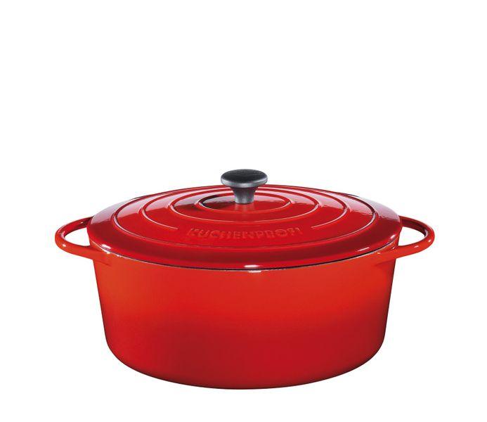 Küchenprofi Hrnec na pečení Provence oválný červený, 33 cm