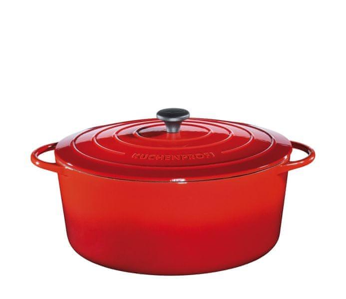 Küchenprofi Hrnec na pečení Provence oválný červený, 35 cm
