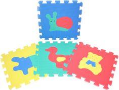 Teddies BABY Állatmintás Hab Puzzle, 30x30 cm, 10 db