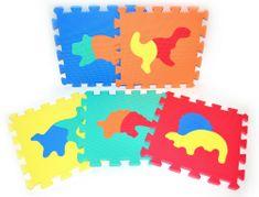 Teddies BABY Habszivacs Puzzle, dinoszaurusz, 30 x 30 cm, 10 db