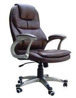 Pisarniški stol K-8893, umetno usnje, bež