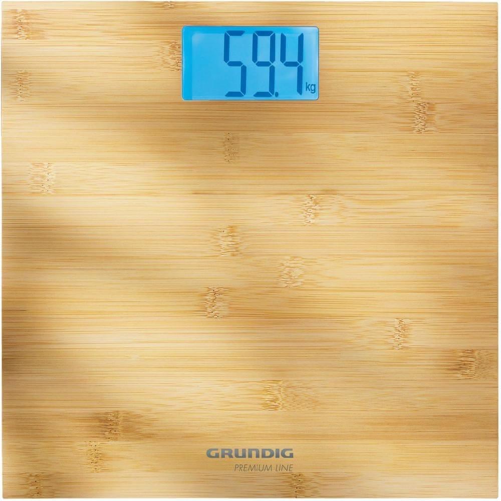 Grundig Digitální osobní váha z bambusu PS4110