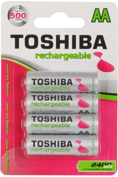 TOSHIBA 4x AA Ni-MH akumulátory 2400 mAh (TNH-6AE)