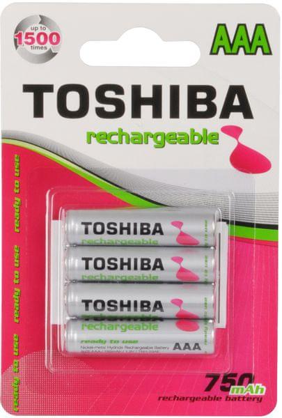 TOSHIBA 4x AAA Ni-MH akumulátory 750 mAh (TNH-03AE)
