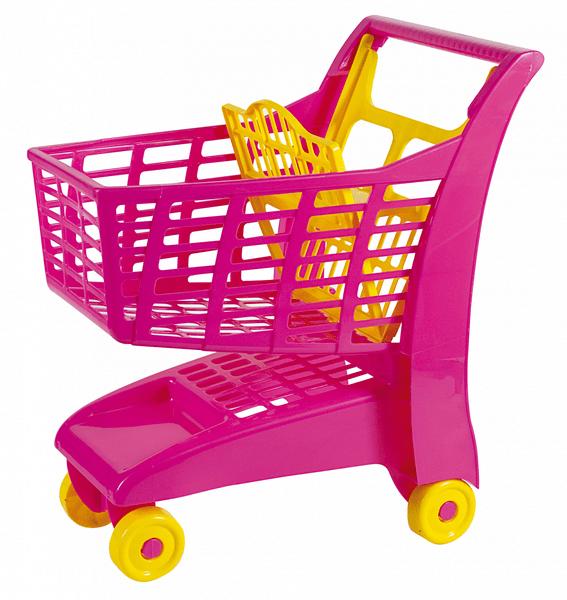 Androni Nákupní vozík růžová