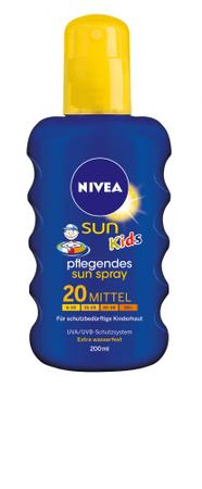 Nivea Sun Dětský barevný sprej na opalování SPF 20 200 ml