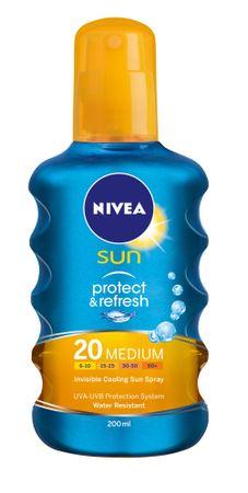 Nivea Sun Neviditelný sprej na opalování SPF 20 200 ml