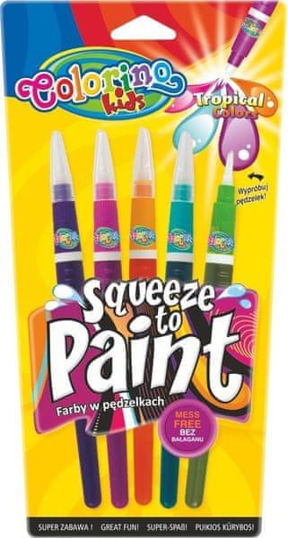 Barvy se štetcovým hrotem Colorino Tropical 5 barev