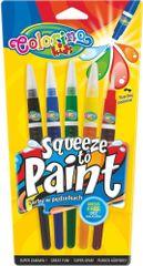 Barvy se štětcovým hrotem Colorino 5 barev