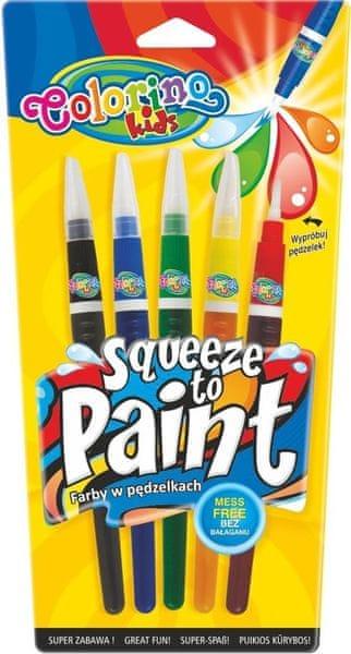 Barvy se štetcovým hrotem Colorino 5 barev