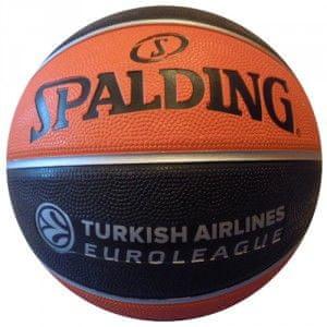Spalding Žoga za košarko TF 150S Replica Euroleague 7 Črna/oranžna