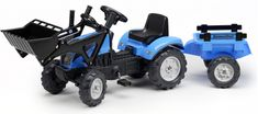 Falk Traktor Landini PowerMondial 110 s přívěsem a nakladačem