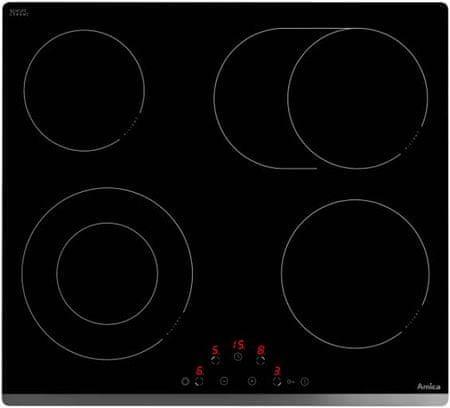 Amica steklokeramična kuhalna plošča PH6211PT (23044)