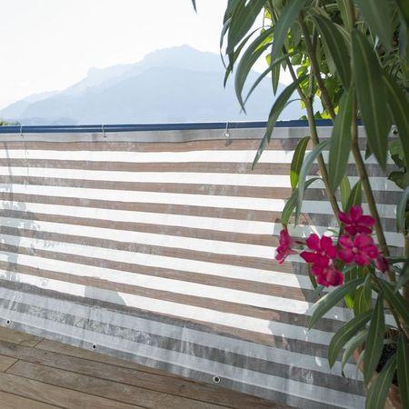 Windhager Zaščitna ograja Ibiza, siva-bela
