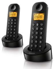 Philips brezžični DECT telefon D1202B Duo
