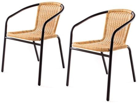Happy Green vrtni stol PE Ratan (5032005-2) 2 kosa