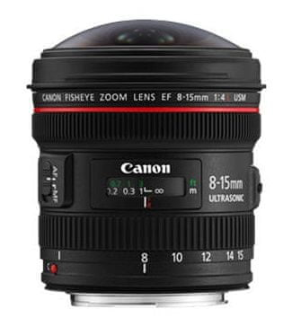 Canon 8-15mm EF f/4L Fisheye USM
