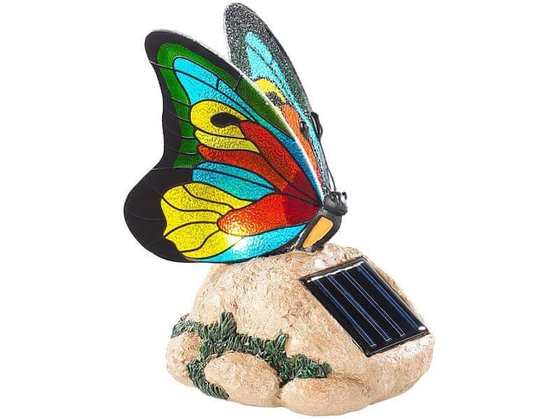Ceramic Blade Lunartec Svítidlo solární Motýl s křídly ze skleněné mozaiky
