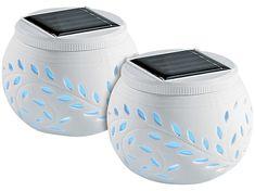 Ceramic Blade Solárne dekoratívne osvetlenie s farebnou zmenou LED, sada 2 ks