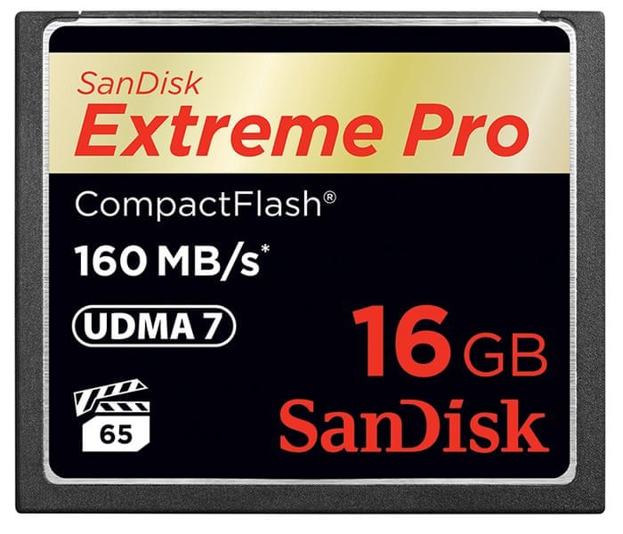 SanDisk Compact Flash Extreme Pro 16GB 160MB/s (SDCFXPS-016G-X46)