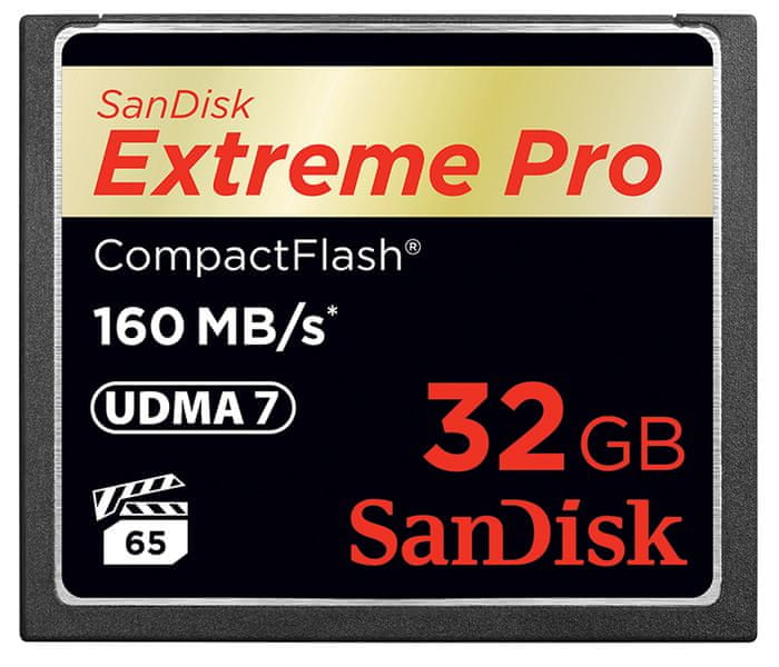 SanDisk Compact Flash 32GB Extreme Pro 160 MB/s (SDCFXPS-032G-X46)
