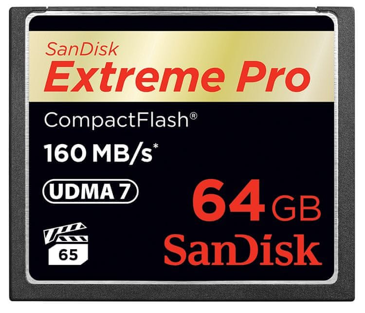 SanDisk Compact Flash 64GB Extreme Pro 160 MB/s (SDCFXPS-064G-X46)