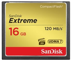 SanDisk Extreme CF 120MB/s 16GB