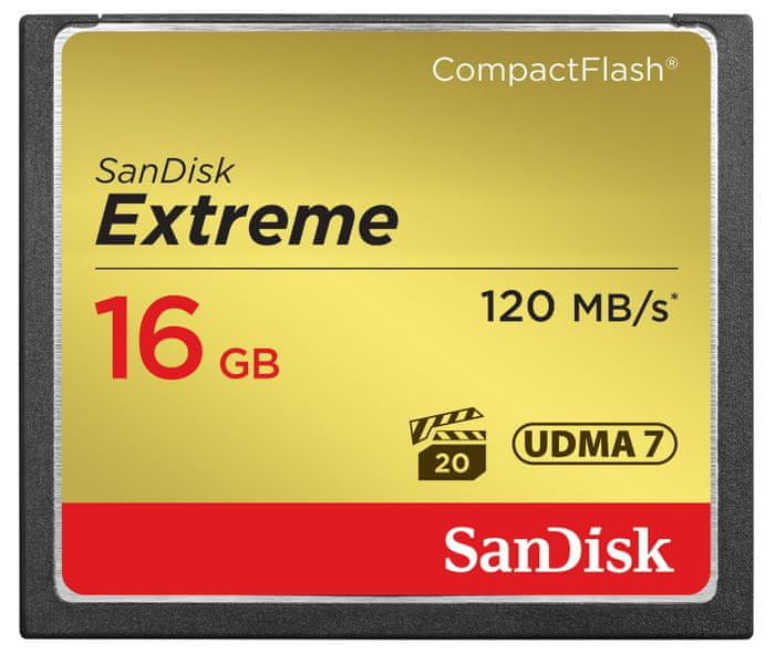 SanDisk Compact Flash Extreme 16GB 120MB/s (SDCFXS-016G-X46)