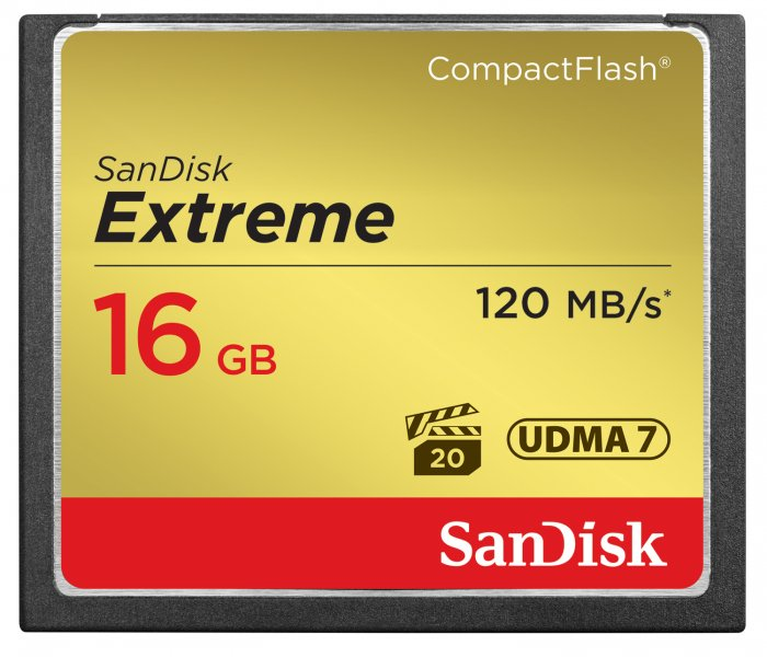 SanDisk Compact Flash 16GB Extreme 120MB/s