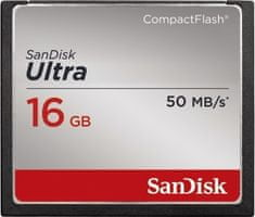 SanDisk Compact Flash Ultra 16GB 50MB/s (SDCFHS-016G-G46)