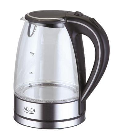 Adler grelnik vode 1.7 l, 2000W, steklen AD1225