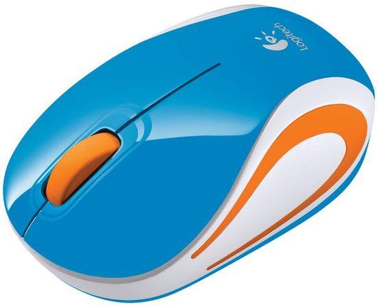Logitech M187 brezžična miška, modra