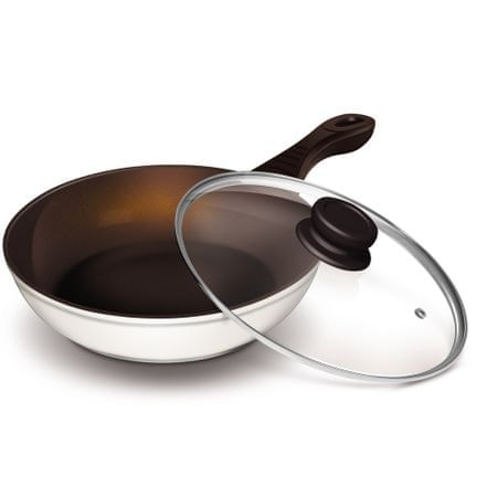 Lamart keramična wok ponev K2870, 28 cm, bela