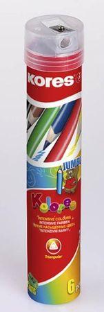 Kores barvice Jumbo v pločevinki, 6 kos