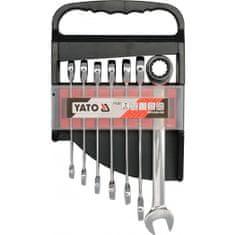 YATO Klucze płasko-oczkowe z grzechotką - 7 szt. (YT-0208)