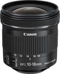 Canon EF-S 10-18 f/4,5-5,6 IS STM + 800 Kč od Canonu zpět!