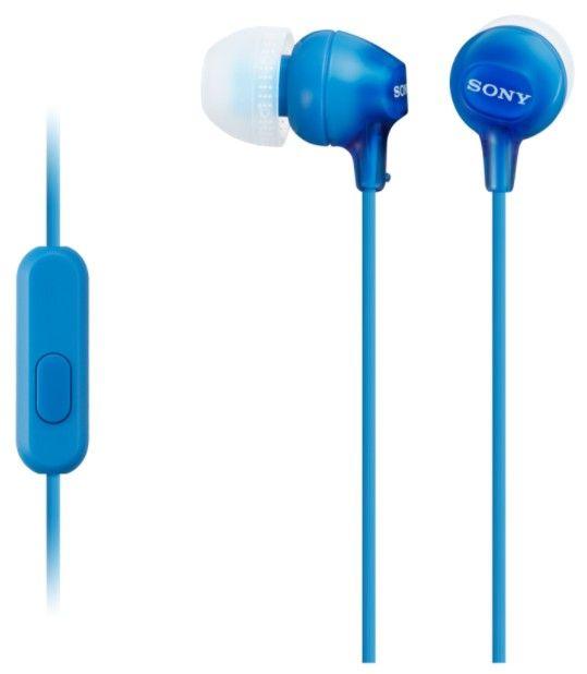 Sony MDR-EX15APL sluchátka s mikrofonem (Blue)
