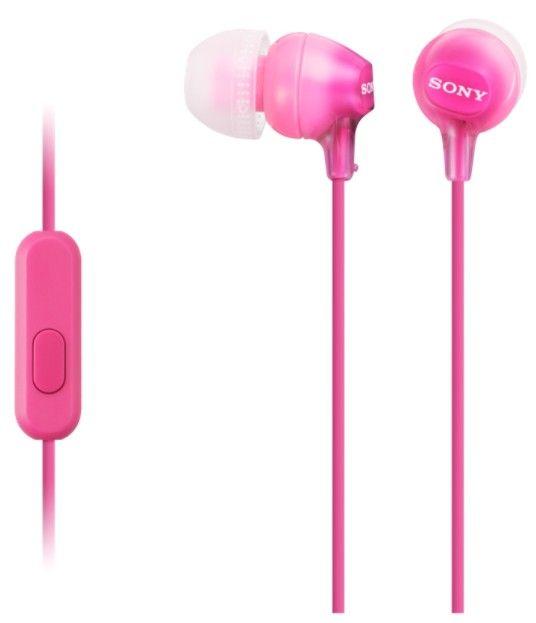 Sony MDR-EX15APP sluchátka s mikrofonem (Pink)
