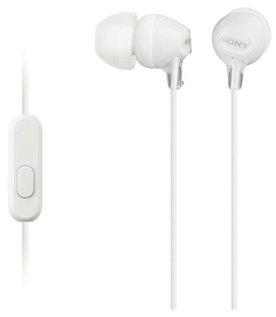 Sony MDR-EX15APW sluchátka s mikrofonem (White)