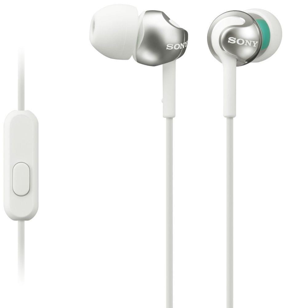 Sony MDR-EX110APW sluchátka s mikrofonem (White)