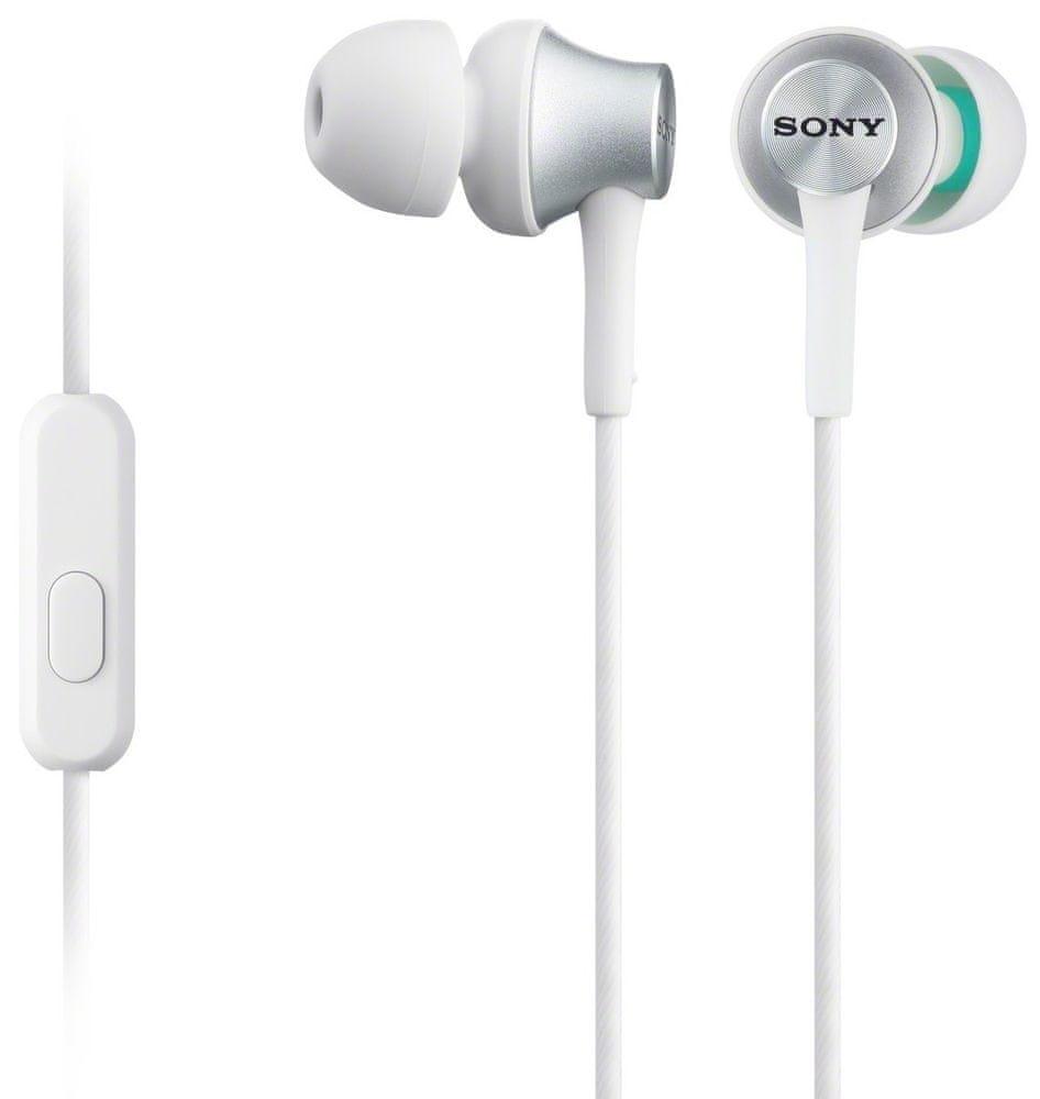 Sony MDR-EX450APW sluchátka s mikrofonem (White)