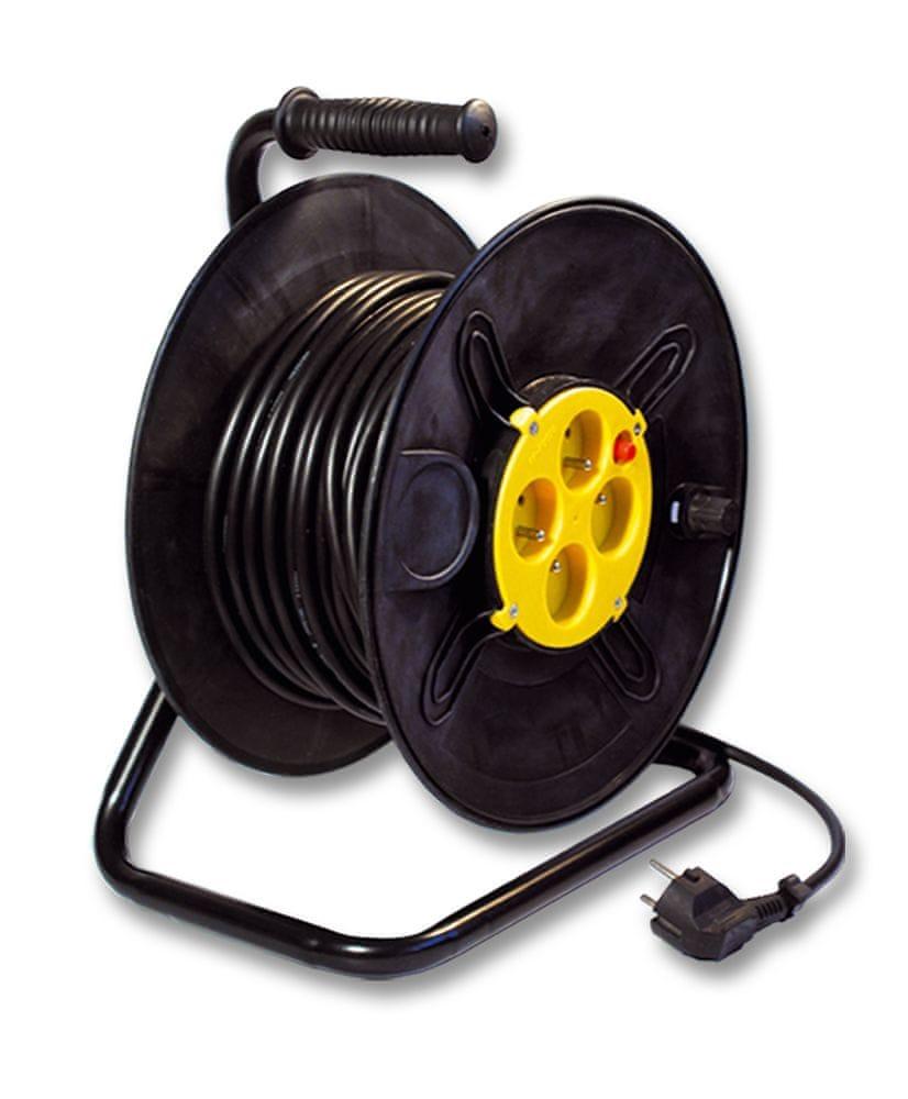 Ecolite Prodlužovací kabel na bubnu 25m 4 zásuvky