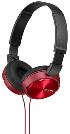 SONY MDR-ZX310R Fejhallgató, Piros