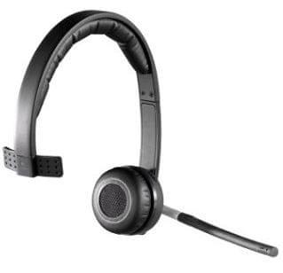 Logitech brezžične Mono slušalke z mikrofonom H820e