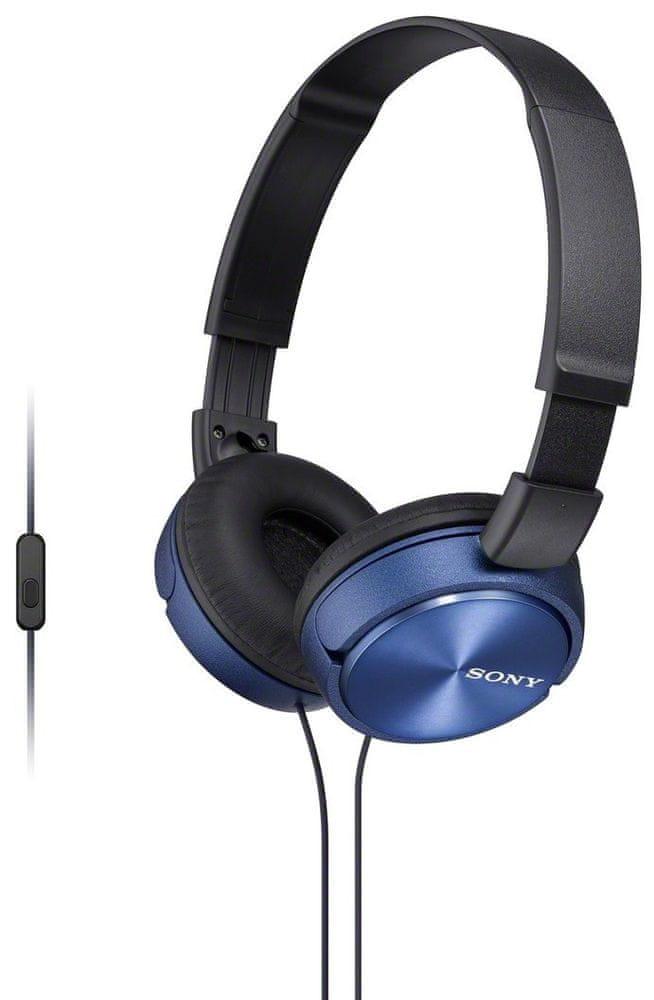 Sony MDR-ZX310APL sluchátka s mikrofonem (Blue)