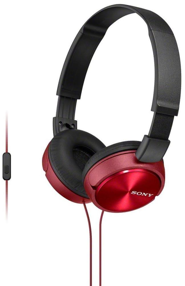 Sony MDR-ZX310APR sluchátka s mikrofonem (Red)