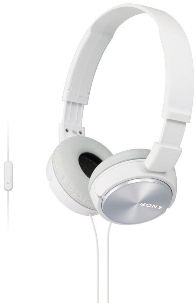 Sony MDR-ZX310APW sluchátka s mikrofonem (White)