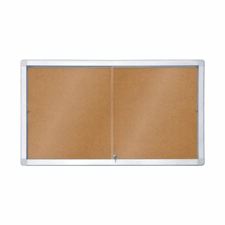 Piši-Briši Oglasna notranja vitrina s pluto GK112A4PD, 70 x 141 cm, 12x A4