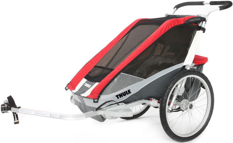 Thule Chariot Cougar 1 Red + Bike